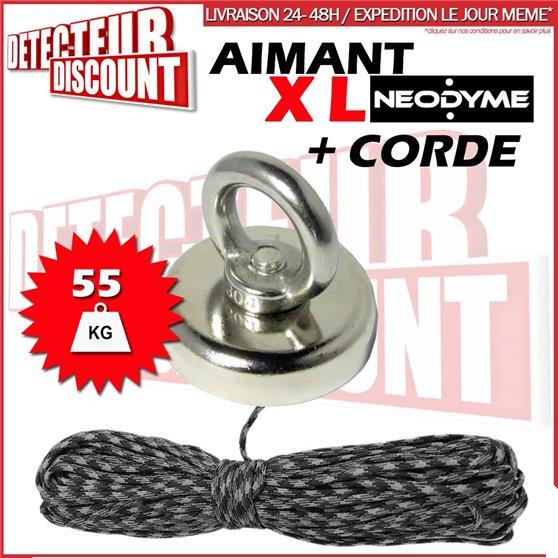 Aimant Néodyme (50 Kg) + corde 30m