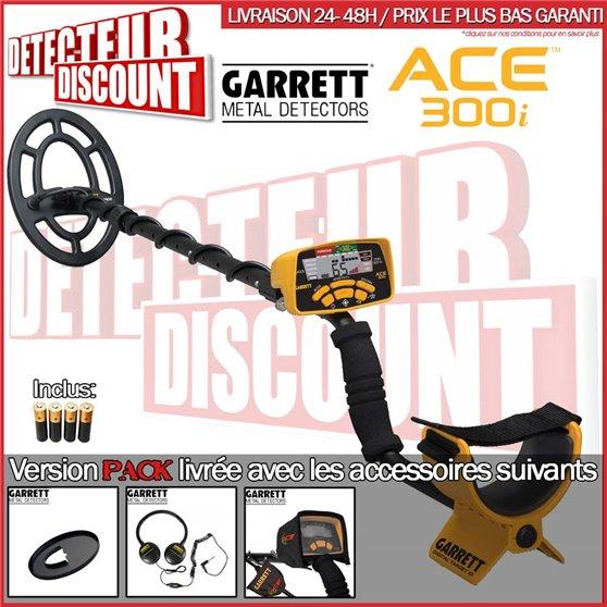Garrett ACE 300i +casque+protege disque+housse pluie