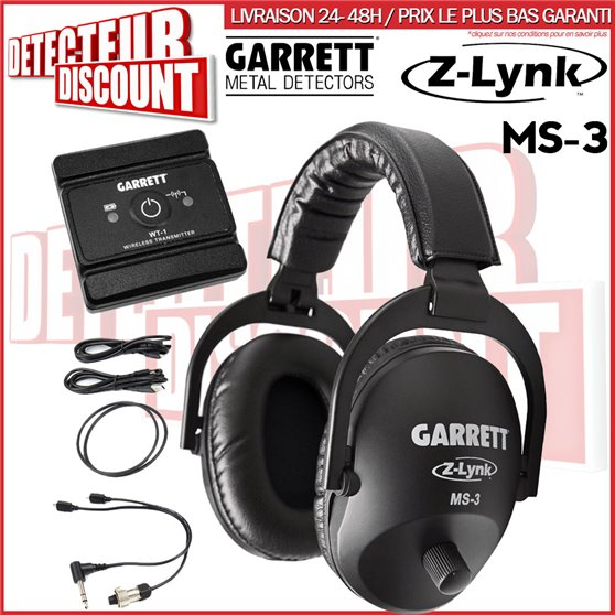 Casque sans fil Garrett MS3 Zlynk