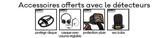 Achat vente de détecteurs de métaux Garrett EURO ACE avec accessoires en promotion sur Paris et l'Ile de France
