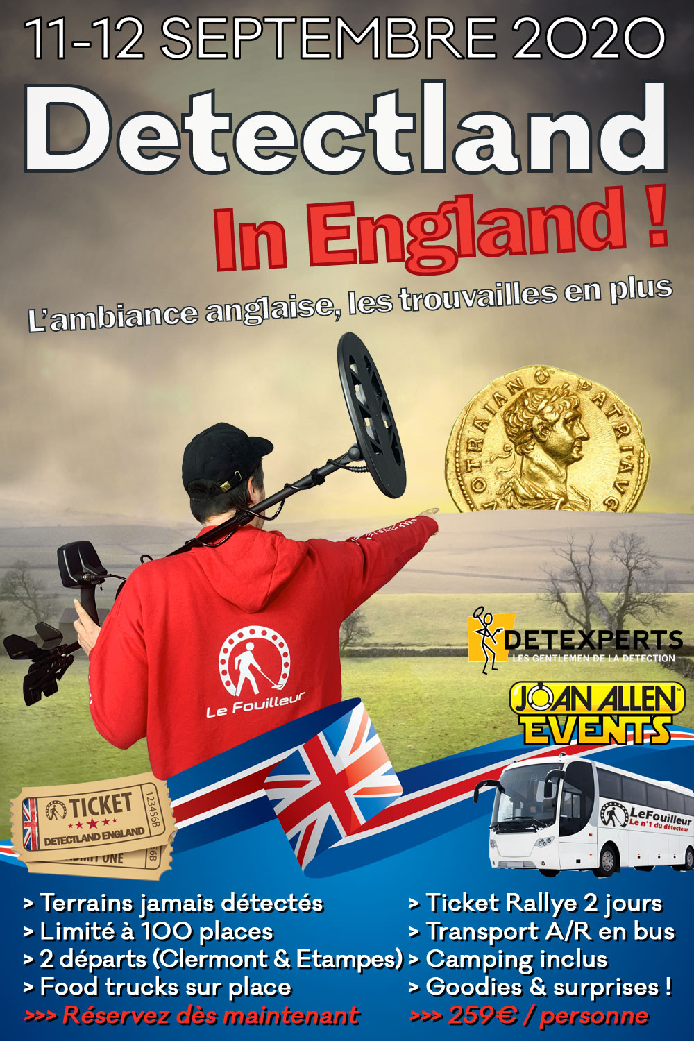 Affiche rallye detectland in england