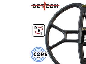 Vente de disque NEL, CORS LABS et DETECH pour détecteurs de métaux à prix promotion