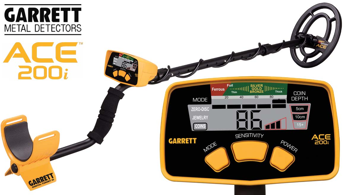 Vente de détecteurs de métaux Garrett ACE 200 i à prix promotion