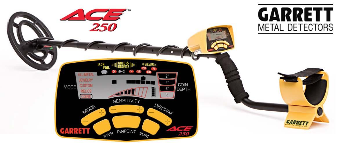 Vente de détecteur de métaux Garrett ACE 250 à prix promotion