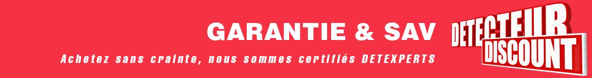 Garantie detecteur de métaux discount detextperts