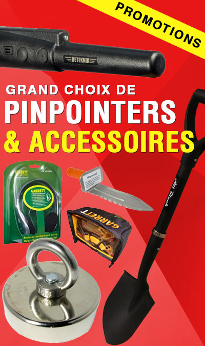pinpointers et accessoires de détecteur en promotion
